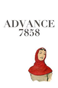 1950s Advance 7858 One Pattern Piece by DesignRewindFashions, $25.00