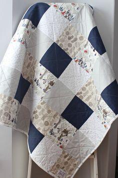 Homemade Baby Quilt, Baby Boy Quilt, Woodland Animals, Woodland Nursery bedding…