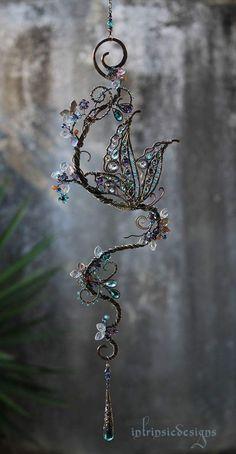 Bijoux Wire Wrap, Bijoux Diy, Wire Wrapped Jewelry, Wire Jewelry, Jewelery, Wire Crafts, Bead Crafts, Jewelry Crafts, Fleurs Diy