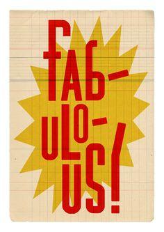 """Fabulous"" Poster ($17.25)"