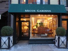 NYC #Mecox storefront! #interiordesign #NewYork #MecoxGardens #furniture #shopping #home #decor #design #room #designidea #vintage #antiques #garden