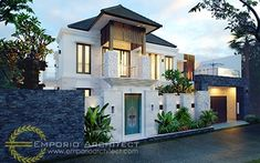 Partha Private House - Denpasar, Bali- Quality house design of architectural services, experienced professional Bali Villa Tropical designs from Emporio Architect. Bali House, House 2, Floor Design, House Design, Maids Room, Architectural Services, Indian Architecture, Denpasar, Tropical Design