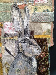 Hare Machine Embroidered Picture ( Detail) mrsbertimus.blogspot.com