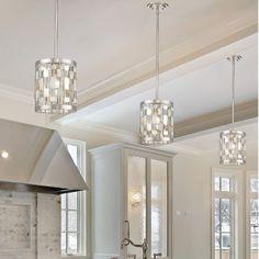 Brushed Nickel Finish Contemporary 1-Light Mini Pendant Lighting Home Decor #lighting