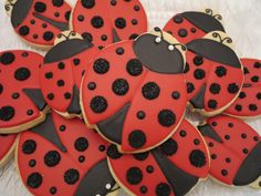 Ladybug cookies.... I've always liked the idea of lady bugs for a baby girl!