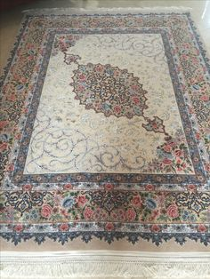 Unique Persian rug, wool and silk size x Ivory Rugs, Persian Rug, Colorful Rugs, Bohemian Rug, Wool, Silk, Unique, Home Decor, Persian Carpet