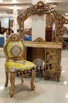 For people who love their Makeup Room... Get more Details: +91-8192999135 #antique #design #royal #dresser #console #table #chair #bedroom #furniture #makeup #room #Aarsun