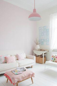 Beautiful white + pastel + airy Scandinavian home inspiration