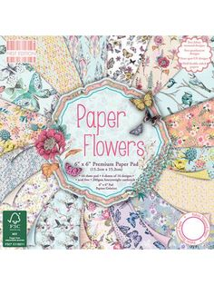 The Good Craft Shop: Paper Flowers 6x6 Paper Pack