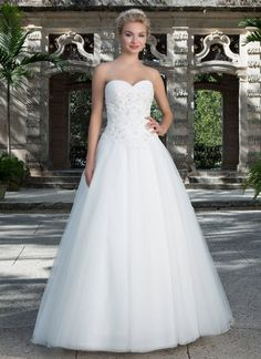 Sincerity wedding dress style 3901 This modern day ball gown features a beaded lace sweetheart neckline, basque waistline and full tulle skirt. Sincerity Bridal Wedding Dresses, Lace Wedding Dress, Sweetheart Wedding Dress, Wedding Dresses Photos, Cheap Wedding Dress, Wedding Dress Styles, Dream Wedding Dresses, Bridal Gowns, Wedding Gowns