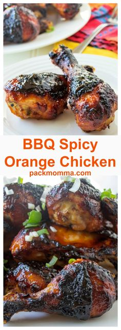 BBQ Spicy Orange Chicken | BBQ Spicy Orange Chicken is the perfect combination of tangy and spicy and is guaranteed to make your BBQ chicken the star of any backyard get together. | Pack Momma | www.packmomma.com