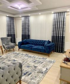 Living Room Decor Curtains, Blue Living Room Decor, Living Room Decor Furniture, Living Room Sofa Design, Colourful Living Room, My Living Room, Living Room Designs, Grey And Brown Living Room, Small Apartment Bedrooms
