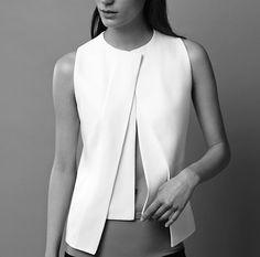 Chic Minimalist Style - layered waistcoat, bold simplicity // Narciso Rodriguez Resort 2015