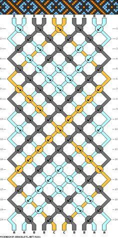 #9281 - friendship-bracelets.net 10 strands, 20 rows, 3 colors