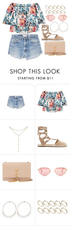 """Work song"" by liberhty ❤ liked on Polyvore featuring Elizabeth and James, GUESS by Marciano, Schutz, Yves Saint Laurent, Jacquie Aiche and ASOS"
