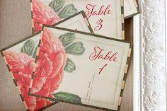 Wedding Reception Table Numbers Peony by SunshineandRavioli