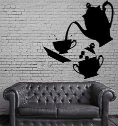 Tea Time Vinyl Decal Coffee Kitchen Decor Home Dining Room Wall Sticker (ig2336)