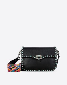 Metal Applications<br>Textured leather<br>Solid colour<br>Framed closure<br>Internal compartments<br>Removable shoulder strap<br> Women 45284482ma