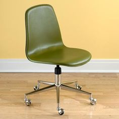 The 70's wants its chair back. Hey, the color is just so... uh 70's.
