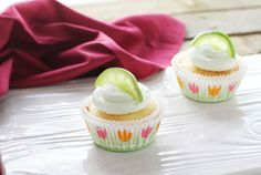 Margarita Cupcakes for Cinco de Mayo or any Summer party!