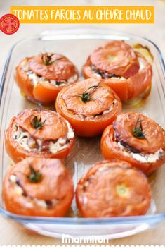 Tomatoes stuffed with hot goat cheese-Tomates farcies au chèvre chaud For a side dish, a starter or even a savory dish this summer, we love this recipe for tomatoes stuffed with fresh goat cheese … An easy recipe for delicious stuffed vegetables! Roasting Beets In Oven, Cooking Recipes, Healthy Recipes, Savoury Dishes, Turkey Recipes, Food Items, Entrees, Meal Planning, Food And Drink