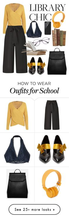 """Library Chic: Study For School"" by patricia-alamattila on Polyvore featuring Hollister Co., Prada, Urbanears and CHARLES & KEITH"