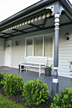 Trendy Exterior Paint Colora For House Weatherboard White Trim 47 Ideas Best Exterior Paint, Exterior Paint Colors For House, Paint Colors For Home, Paint Colours, Exterior Color Schemes, House Color Schemes, Exterior Design, White Trim, Dulux Tranquil Retreat