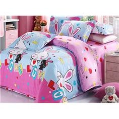 Origami Clothing For Kids Myer Origami Clothing, Kids Bedding Sets, Pink Rabbit, Bed Sets, Cartoon Kids, Pretty, Cotton, Fashion Design, Furniture