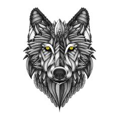 Ornate Wolf by psydrian