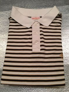 Vintage ORIGINAL PENGUIN MUNSINGWEAR Golf Polo Shirt - Striped - Size XL