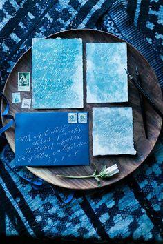 Indigo Wedding Details To Dye For - Weddbook