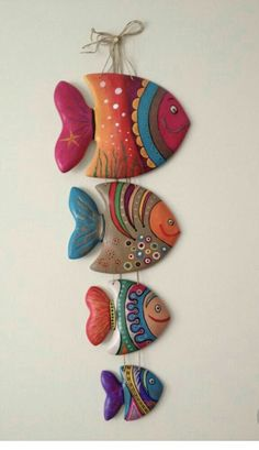 40 Awesome and Easy Clay Project for Beginners – Idée ceramique – Best Crafts Paper Art Projects, Clay Projects, Knitting Projects, Fish Crafts, Rock Crafts, Clay Crafts, Paper Plate Fish, Teddy Bear Knitting Pattern, Pasta Art