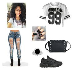 """""""Untitled #1"""" by gillian12302 ❤ liked on Polyvore featuring NIKE and Michael Kors"""