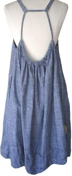 Magnolia Pearl: Blue chambray cotton Amalie Apron Dress