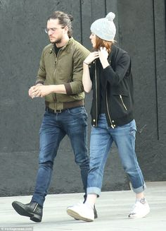 Casual couple: Rose was clearly enjoying the chance spend time with the actor despite his ...
