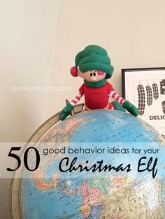 Need ideas for your Christmas Elf's adventures? Check out this list of 50 easy ideas (with free printable!) to keep your elf on the shelf busy all month. | Christopher Pop-In-Kins | Elf on the Shelf