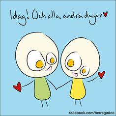 Herregud - Idag..... Hug Quotes, Smile Quotes, Tatty Teddy, Just Love, Love Of My Life, Swedish Quotes, Hug Pictures, Romantic Love Poems, Emoji