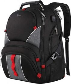 Large Laptop Backpack,High Capacity TSA Durable Luggage Travel Laptop Backpacks,Water Resistant Extra Big Student College School Backpack for Women Men with USB Port, Fits 17 inch Laptop & Notebook Backpacks for College Student College Backpack Women, Best Backpacks For College, College Bags, Cool Backpacks, College School, Law School, School Bags, High School, Computer Backpack