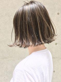 【2018年春夏】《SHIMA×望月》切りっぱなしボブ×外国人風ハイライト/SHIMA KICHIJOJI 【シマ キチジョウジ】のヘアスタイル|BIGLOBEヘアスタイル