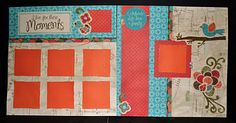 CTMH Stella Layout using the Canvas Compliments and Crochet Flowers. http://thehappyscrappinsquad.blogspot.com