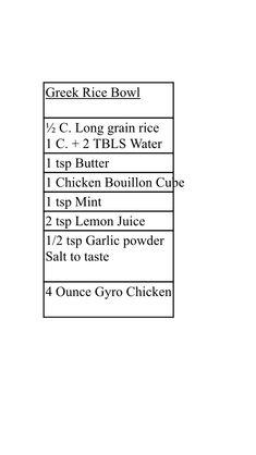 Greek Rice, Long Grain Rice, Personal Recipe, Rice Bowls, Garlic Powder, Mint, Recipes, Food Recipes, Rezepte