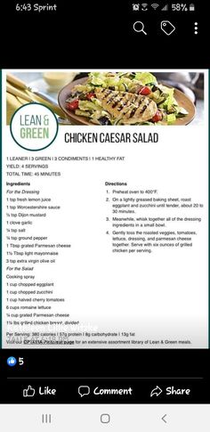 Lean Protein Meals, Lean Meals, New Recipes, Cooking Recipes, Healthy Recipes, Clean Eating, Healthy Eating, Lean And Green Meals, Health