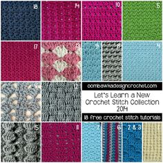 Let's Learn a New Crochet Stitch Collection 2014 @OombawkaDesign