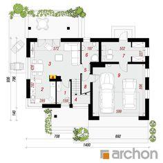projekt Dom w żurawkach (G2) rzut parteru