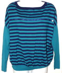 A.N.A Casual Multi Color Striped  Women's Sweater Top Blouse Shirt Size M #ana #Blouse #Casual