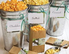 A popcorn bar for a wedding reception. :)