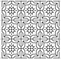 November 2012 - Have TONS of free patterns - updated regularly Blackwork Cross Stitch, Blackwork Embroidery, Folk Embroidery, Cross Stitching, Cross Stitch Embroidery, Embroidery Patterns, Cross Stitch Patterns, Graph Paper Drawings, Graph Paper Art