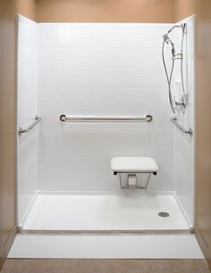 Bathroom Shower Stalls on Mirolin Barrier Free 1 Piece Shower