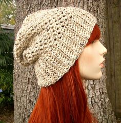 The Yorkshire Slouchy Hat in Oatmeal