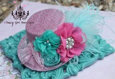 Tea Party Hat  Mini Derby Hat  Hat Photo Prop by fancygirlbowtique, $25.00